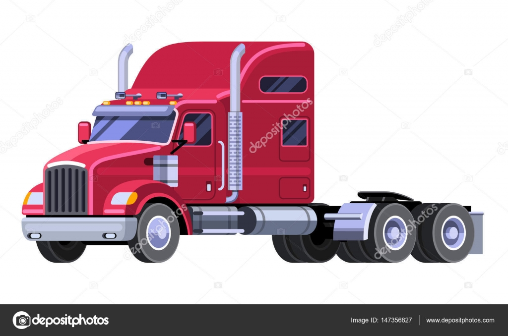 1024x678 Classic Tractor Truck With Sleeper Cab And Fifth Wheel. Simple