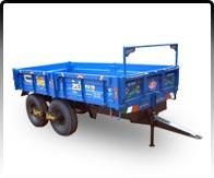 196x163 Kishan Hydraulic Tractor Trailer 4 Wheel, Hydraulic Tractor
