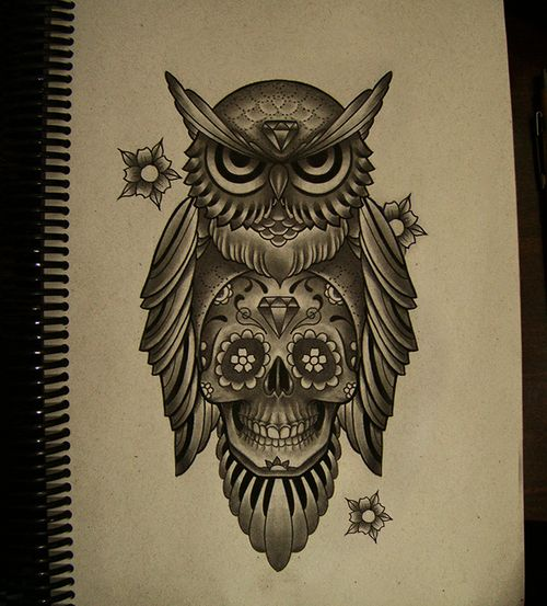 Traditional Owl Arm Tattoos