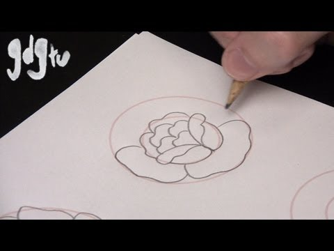 480x360 How To Draw Basic Traditional Rose Tattoo Designs By A Tattoo