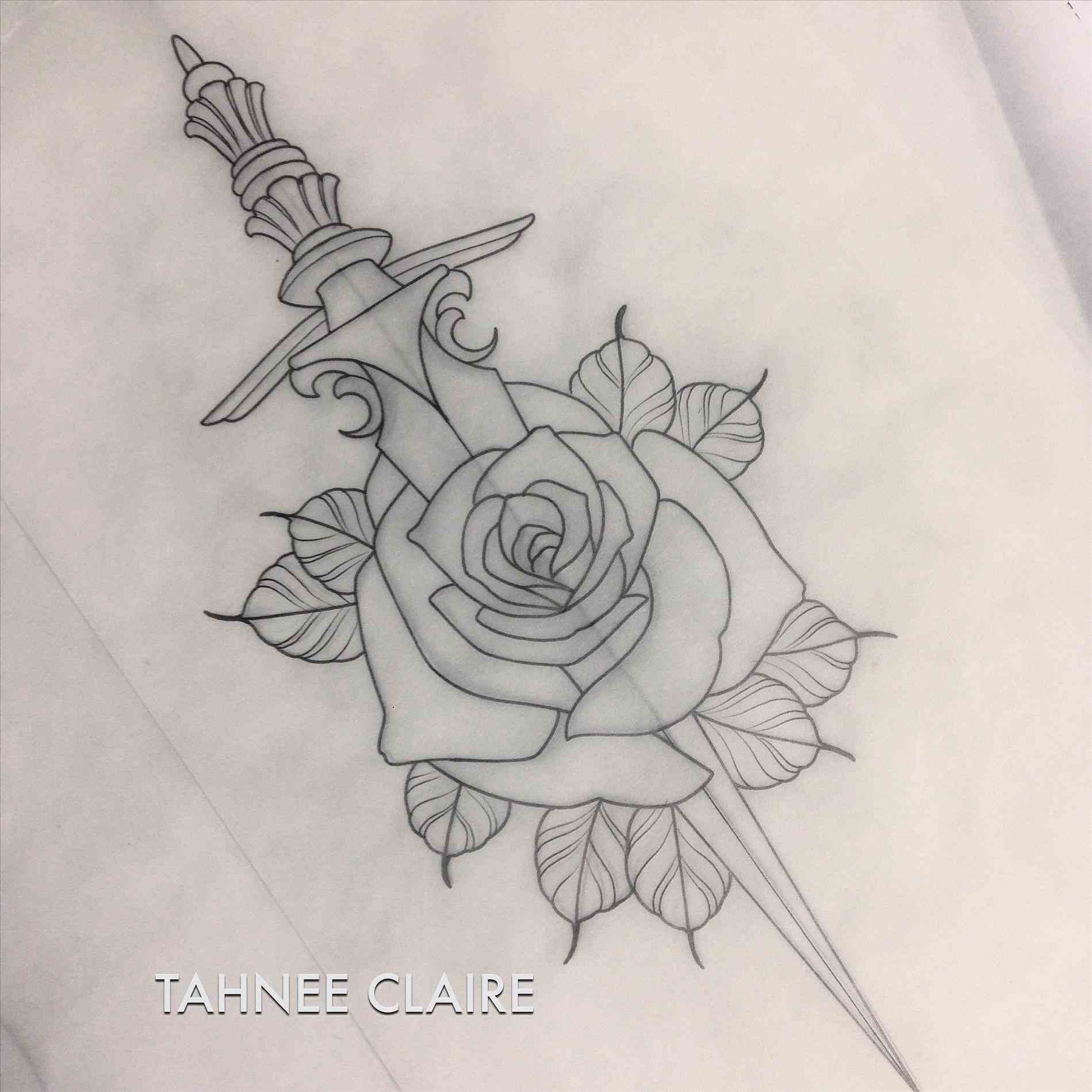 1899x1899 Neo Traditional Rose Tattoo Flash Traditional Roses Tattoo By Kade