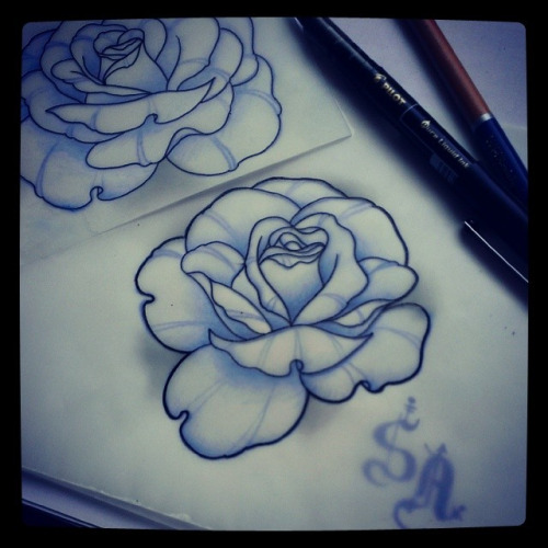 500x500 Neo Traditional Rose