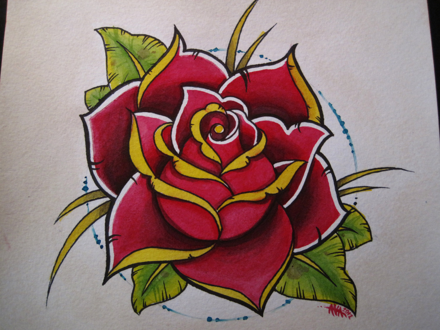 Rose Traditional Tattoo: Traditional Rose Drawing At GetDrawings