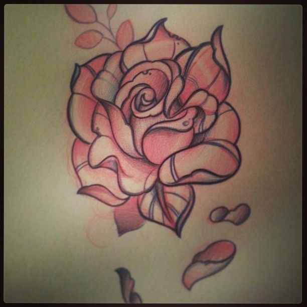Traditional Rose Tattoo Drawing At Getdrawings Com Free For