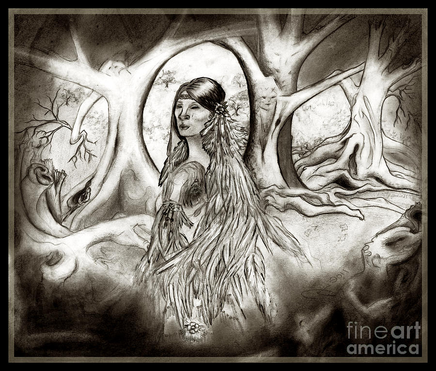 900x766 The Legend Of Cherokee Rose Trail Of Tears Drawing By Janice Moore