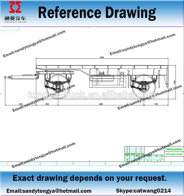 750x800 Turntable Draw Bar Trailer 20 Ft Full Trailercarbon Steel Full