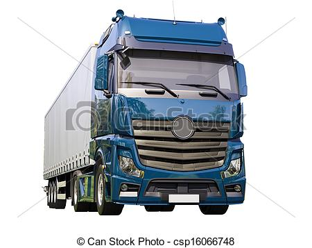 450x357 A Modern Semi Trailer Truck Isolated On White Background Drawing