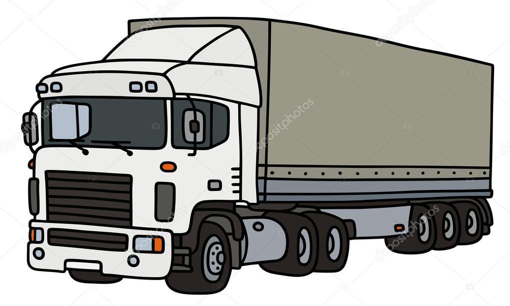 1023x614 Semi Trailer Truck Stock Vector 2v