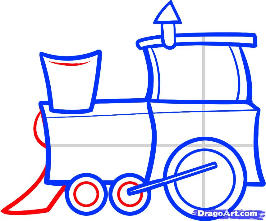 856x713 How To Draw A Train For Kids, Step By Step, Trains, Transportation
