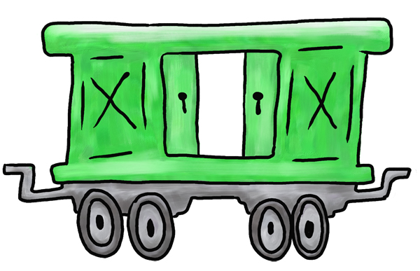 600x387 Image Of Caboose Clipart