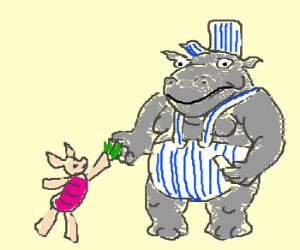 300x250 Piglet Pays Hippo Train Conductor For Ticket