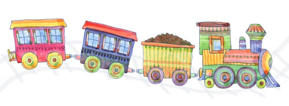 1000x367 Drawing A Train