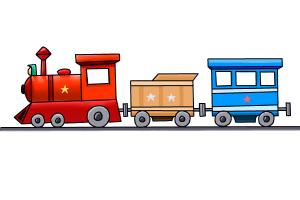300x200 How To Draw A Train Step By Step For Kids