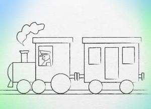300x217 How To Draw Train