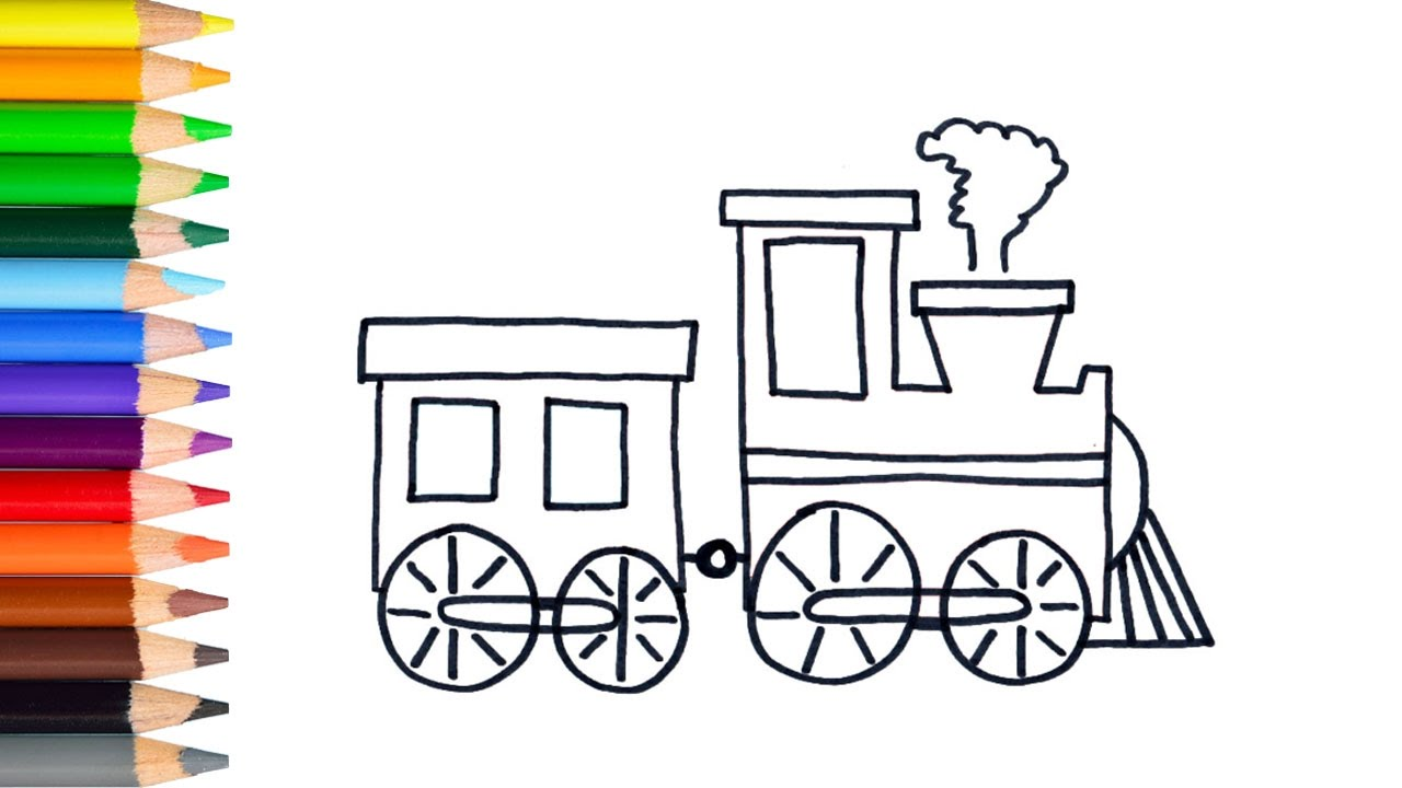 1280x720 Learn How To Draw Easy Train Teach Drawing For Kids Toddlers