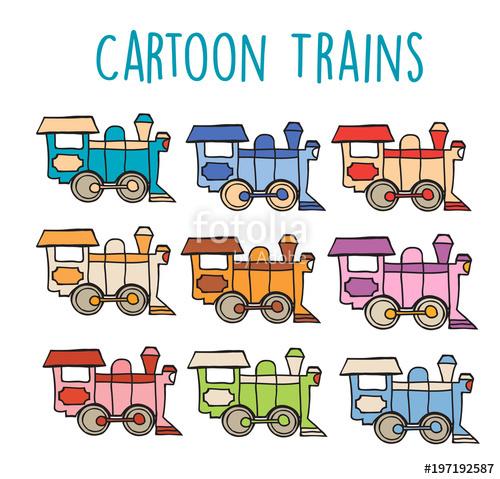 500x479 Cartoon Locomotive Retro Train Sketch Drawing Of Children S Flat