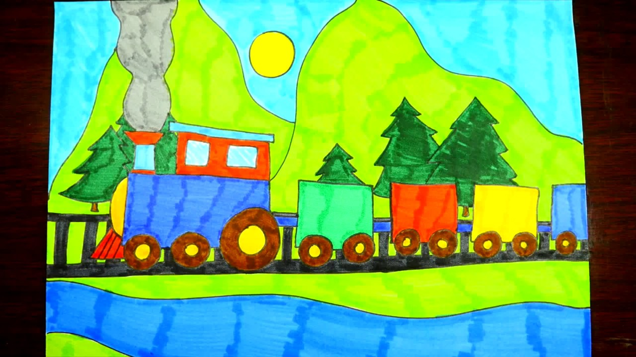 Train Drawing For Children at GetDrawings.com | Free for personal ...