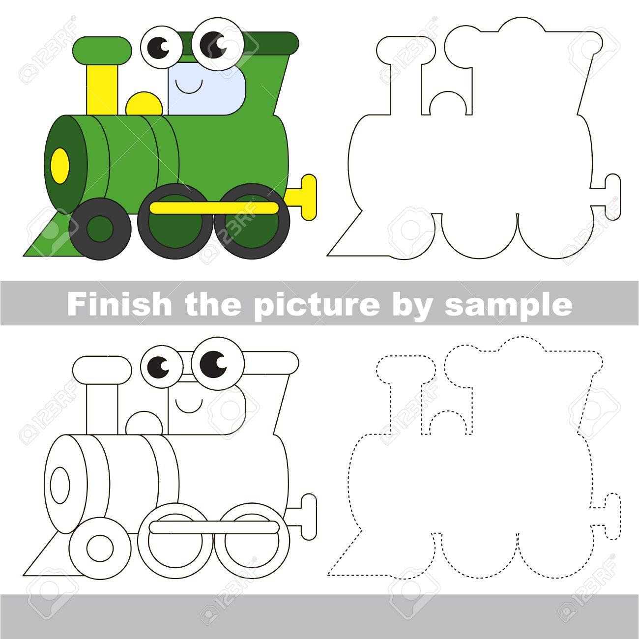 1300x1300 Drawing Worksheet For Children. Easy Educational Kid Game. Simple