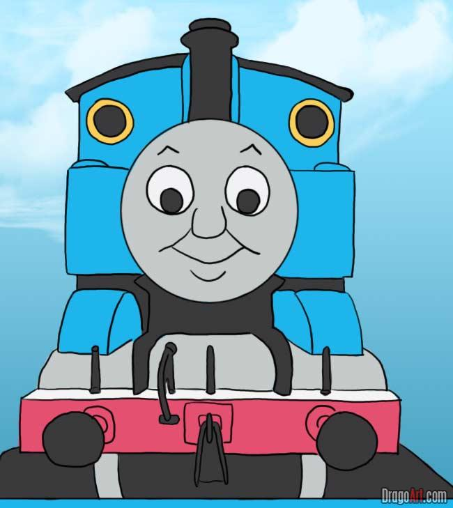 650x729 How To Draw Thomas The Tank Engine Alexander's Thomas The Train