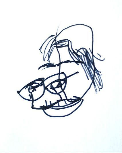 425x535 Blind Contour Drawing Blind Contour Drawing, Contour Drawings