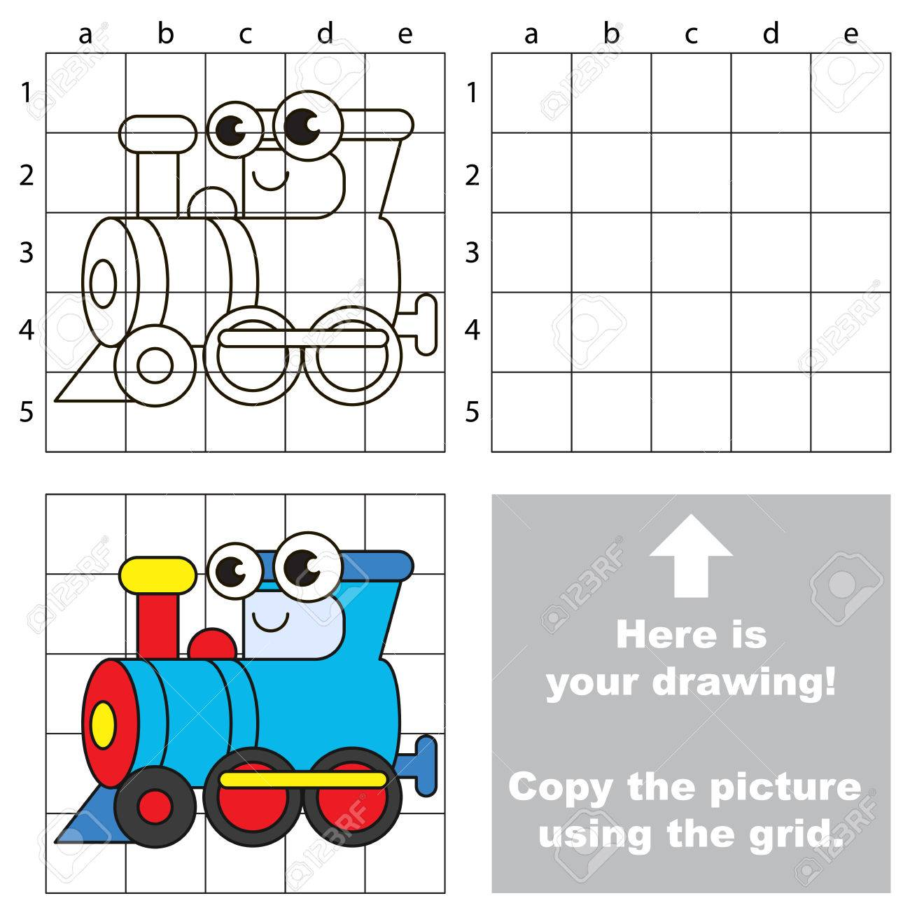 1300x1300 Copy The Picture Using Grid Lines, The Simple Educational Game