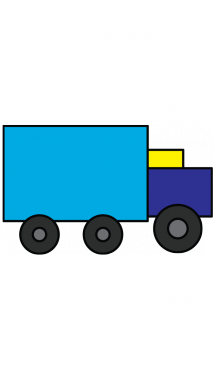 215x382 How To Draw A Truck, Transportation, Vehicles, Easy Step By Step
