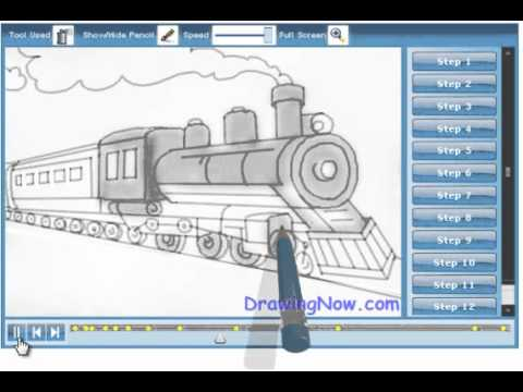 480x360 How To Draw A Train