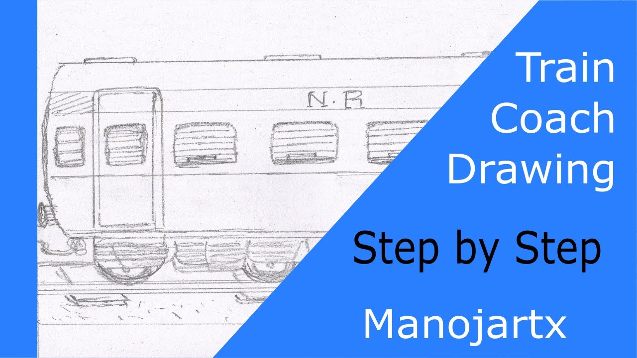 1280x720 How To Draw Train Bogie Or Coach Simple Steps For Kids