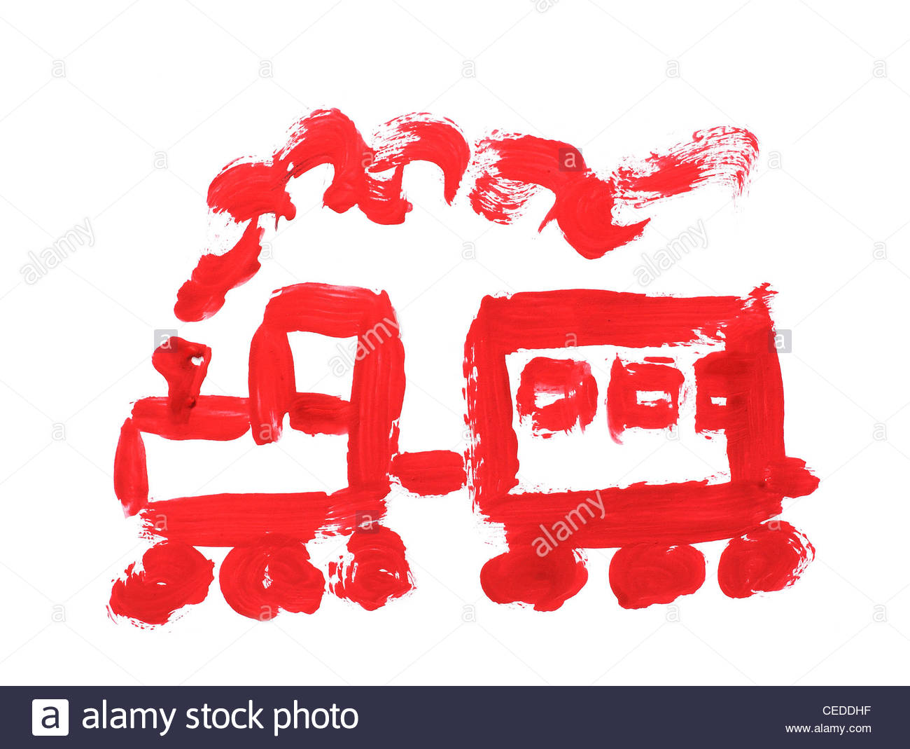 1300x1069 Of The Train Painted With Paint Simple Drawing Stock Photo