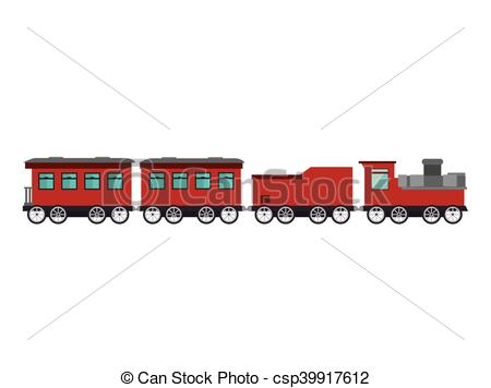 450x356 Old Train Rail Transport Vehicle Vector Illustration Vector Clip