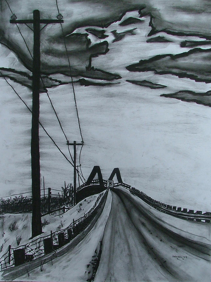 675x900 Bridge Over Train Tracks Drawing By Lee Davies