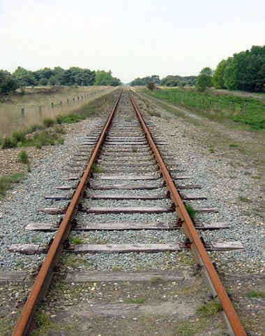 380x483 One Point Or Single Point Perspective Of Railroad Tracks