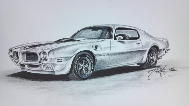 800x450 70 12 Trans Am Black And White Pencil Sketch