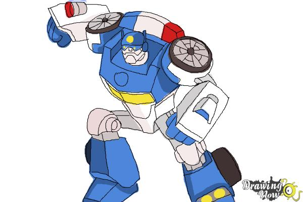 600x400 How To Draw Chase From Transformers Rescue Bots