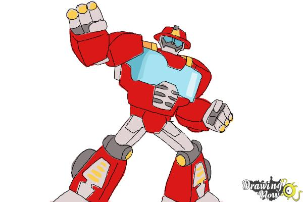 600x400 How To Draw Heatwave From Transformers Rescue Bots