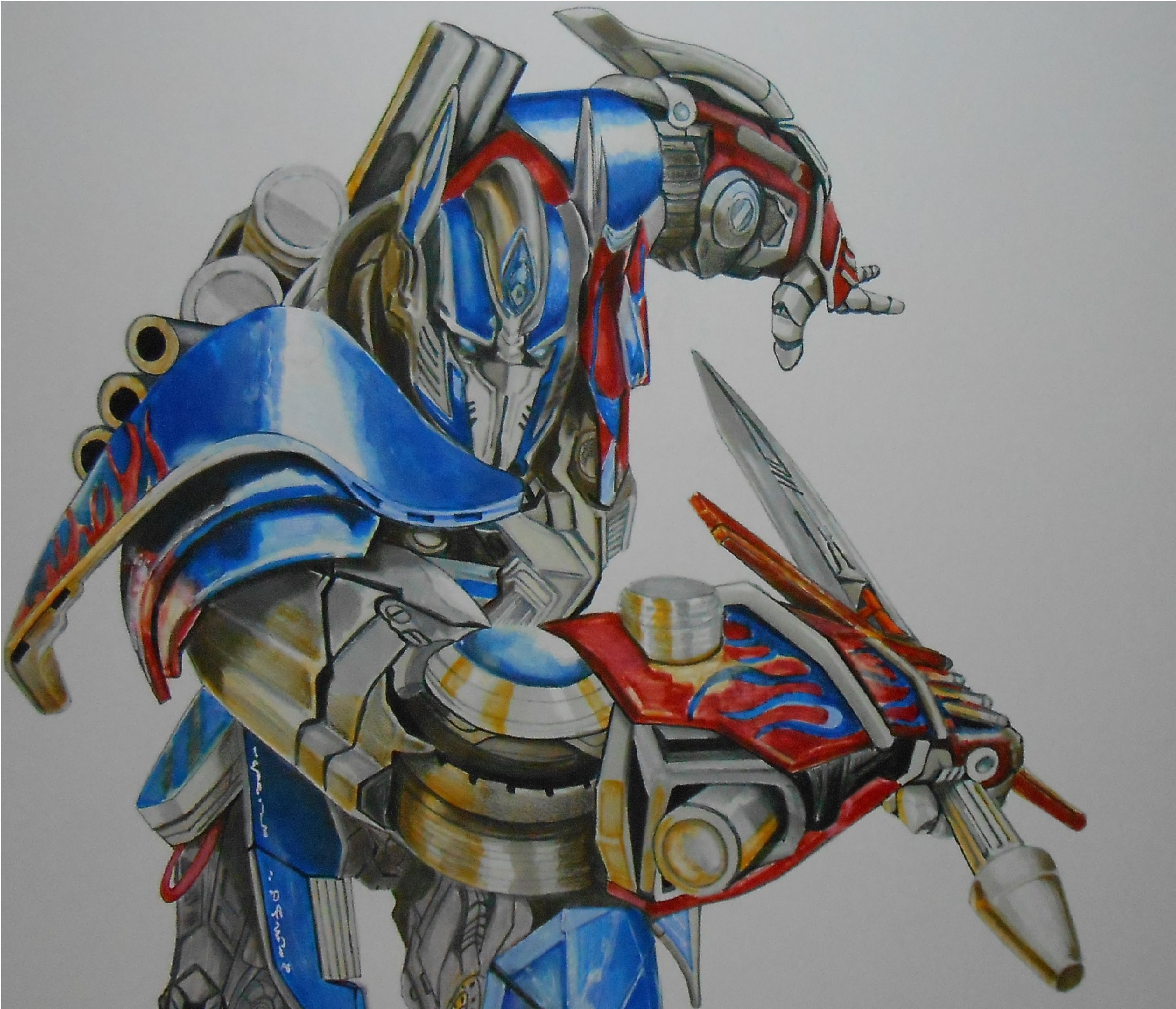 3000x2574 Drawing Optimus Prime Speed Painting By Riestra