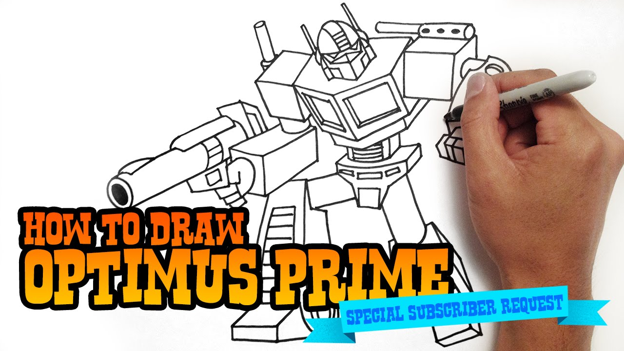 1280x720 How To Draw Transformers Optimus Prime How To Draw Optimus Prime