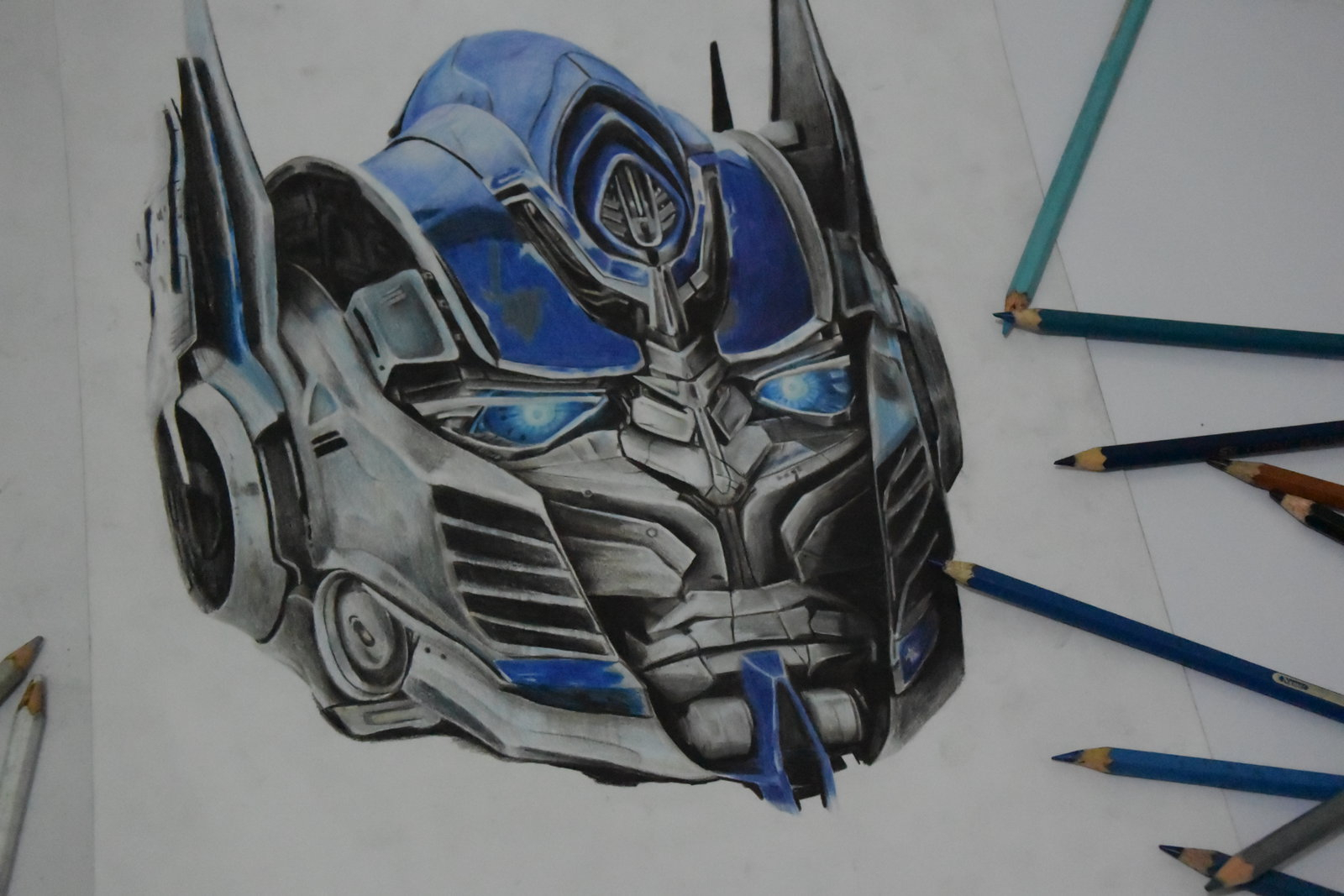 1600x1067 Optimus Prime Face Drawing Optimus Prime (Transformers) By