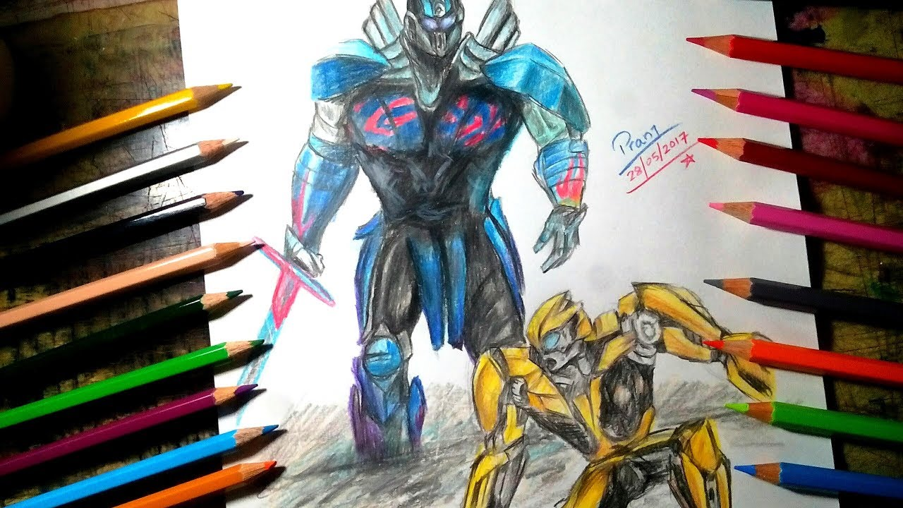 1280x720 Drawing Transformers The Last Knight(Poster) Drawing Optimus