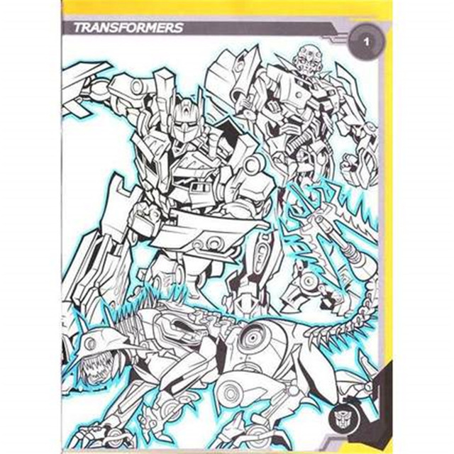 640x640 Transformers Coloring Book Secret Garden Style Coloring Book
