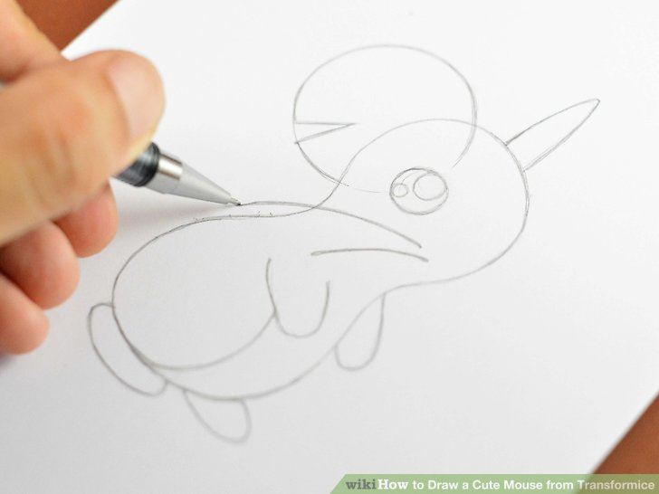 728x546 How To Draw A Cute Mouse From Transformice 9 Steps