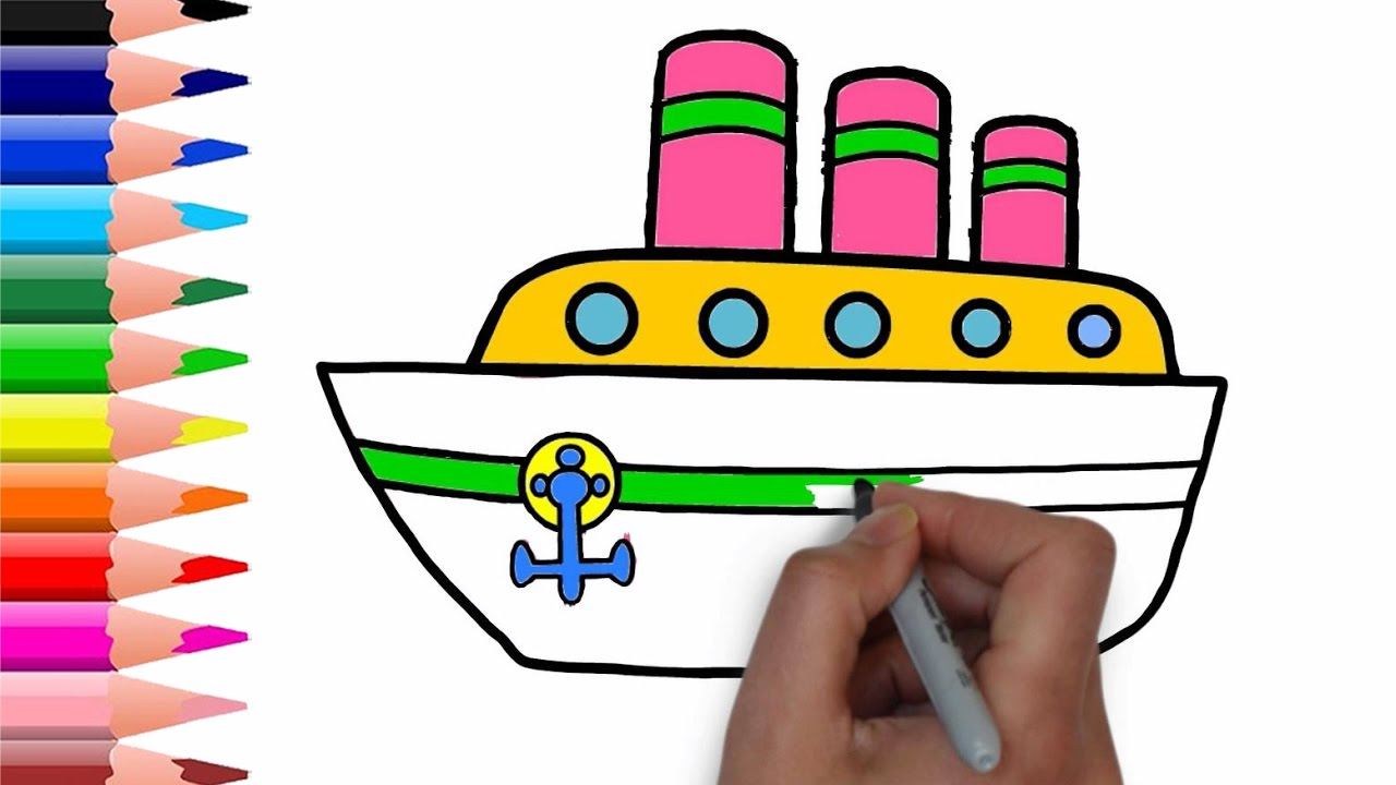 1280x720 Drawing Water Transportation Amp Car For Kids