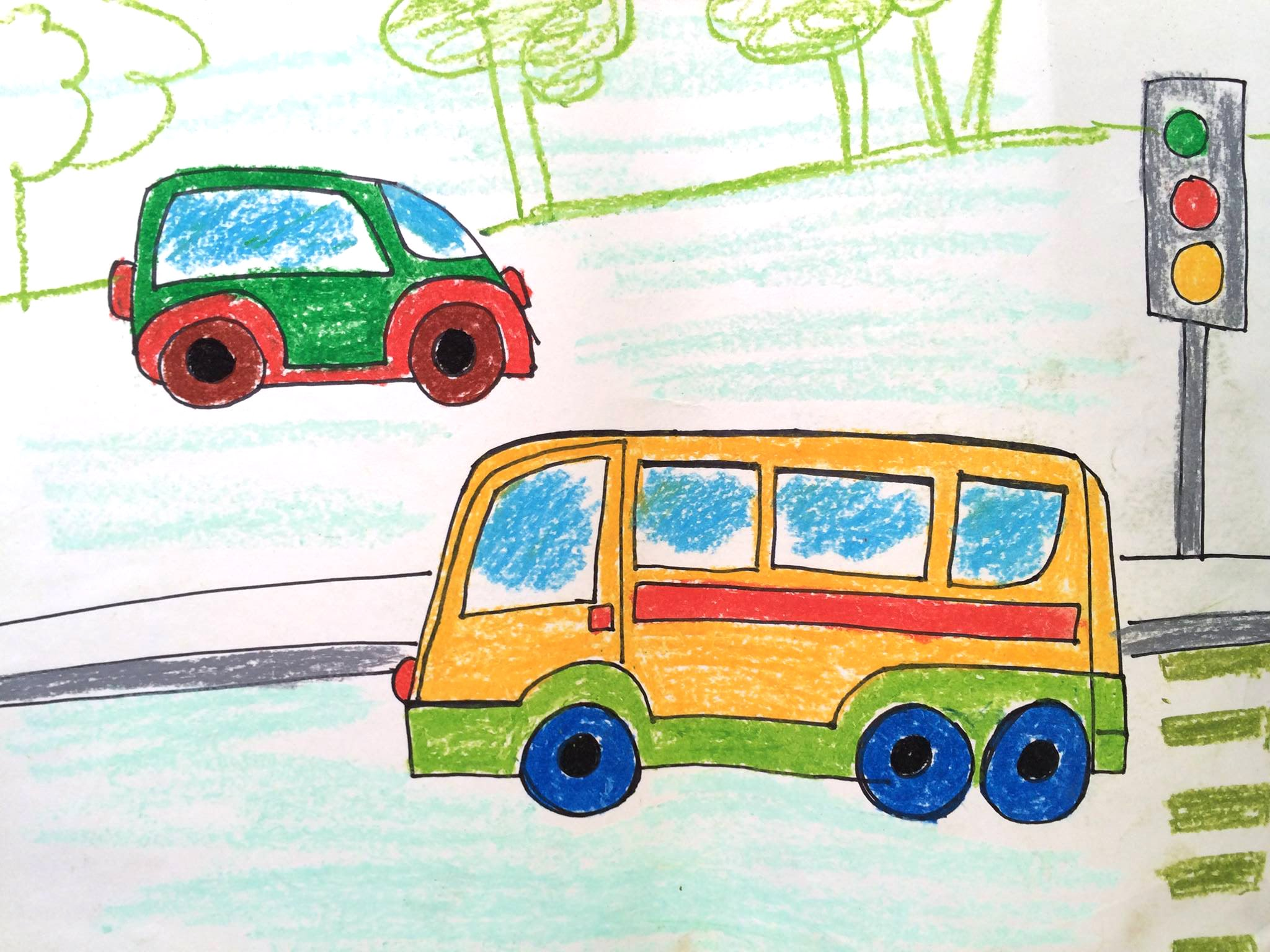 2048x1536 How To Draw Transport Kids How To Draw A Bus Easy Art