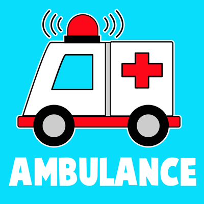 400x400 How To Draw Cartoon Ambulances For Kids