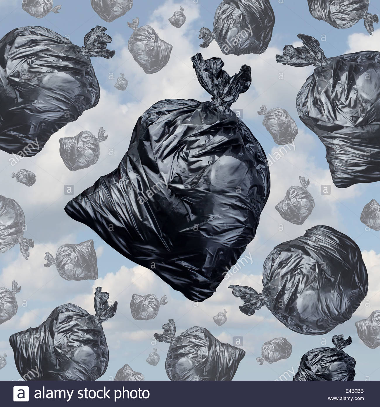 1300x1390 Garbage Concept As Black Trash Bags With An Unpleasant Smell