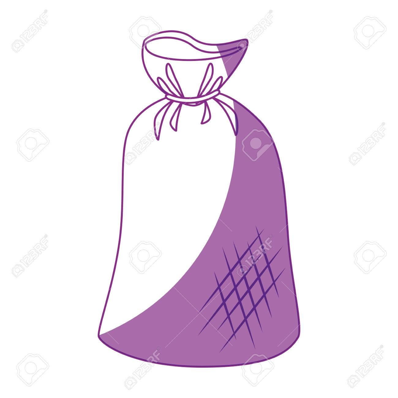 1300x1300 Trash Bag Icon Over White Background. Vector Illustration Royalty
