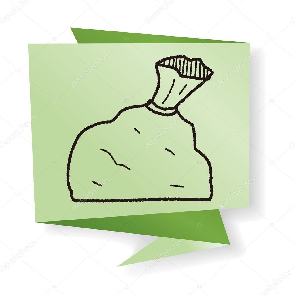 1024x1024 Trash Bag Doodle Vector Illustration Stock Vector Hchjjl