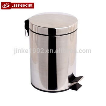 350x350 20 Liter Drawing Stainless Foot Pedal Dustbin Red Metal Trash Can