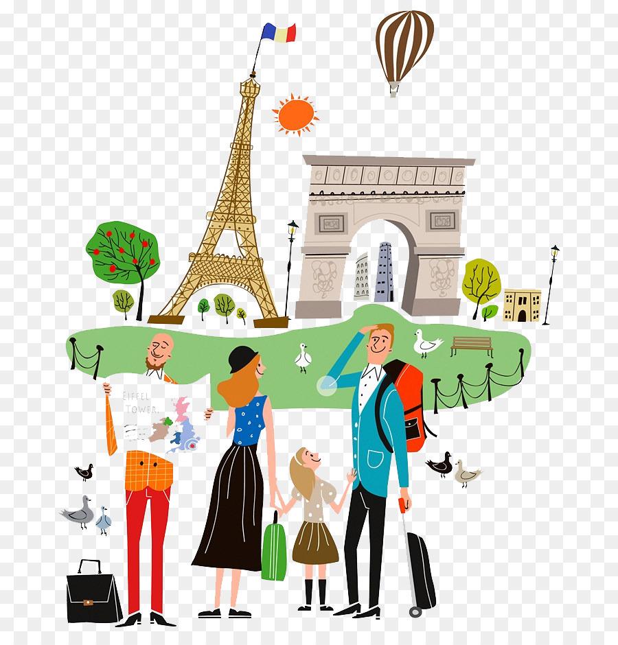 900x940 Travel Drawing Tourism Illustration