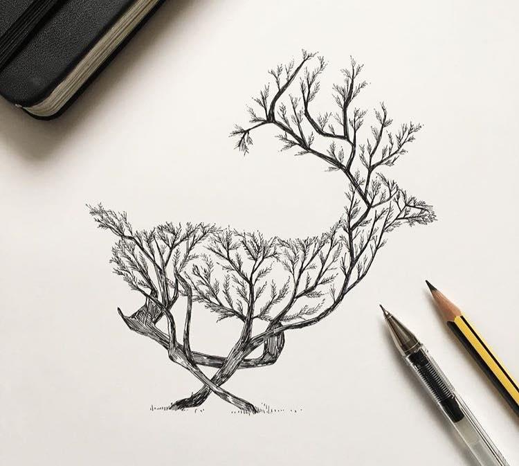 750x673 Alfred Basha Illustration Bird Tree, Bird And Create